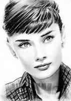 Audrey Hepburn miniature by whu-wei