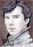 Benedict Cumberbatch miniature by whu-wei