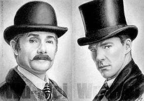 Sherlock sketchcards by whu-wei