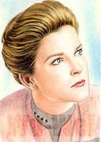 Kate Mulgrew miniature by whu-wei
