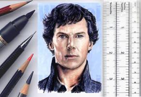 Sherlock sketchcard by whu-wei