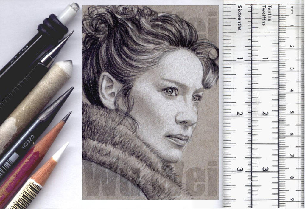 Outlander sketchcard by whu-wei