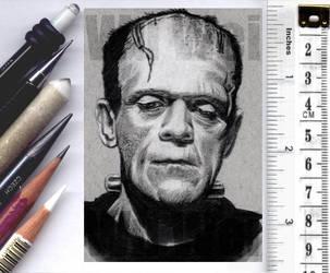 Frankenstein's Monster sketchcard by whu-wei