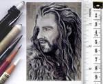 Thorin Oakenshield sketchcard by whu-wei