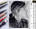 Clara Oswald sketchcard by whu-wei