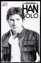 Han Solo sketch cover by whu-wei