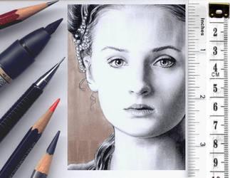 Sansa Stark sketchcard by whu-wei