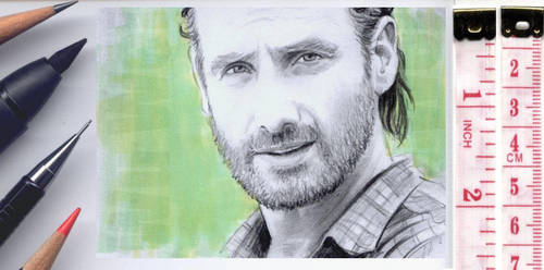 Walking Dead sketchcard by whu-wei