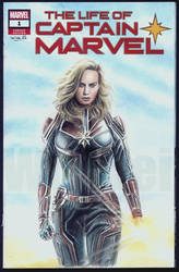 Captain Marvel sketch cover by whu-wei