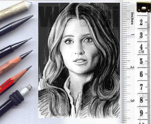 Stana Katic sketchcard by whu-wei