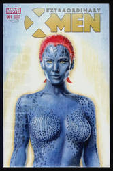 Mystique sketch cover by whu-wei
