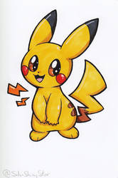 Copic Pikachu by SilviShinyStar