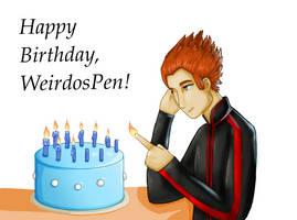 Happy Birthday WeirdosPen! by Nimidorin