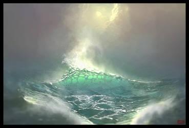The Sea by UsamahDraws