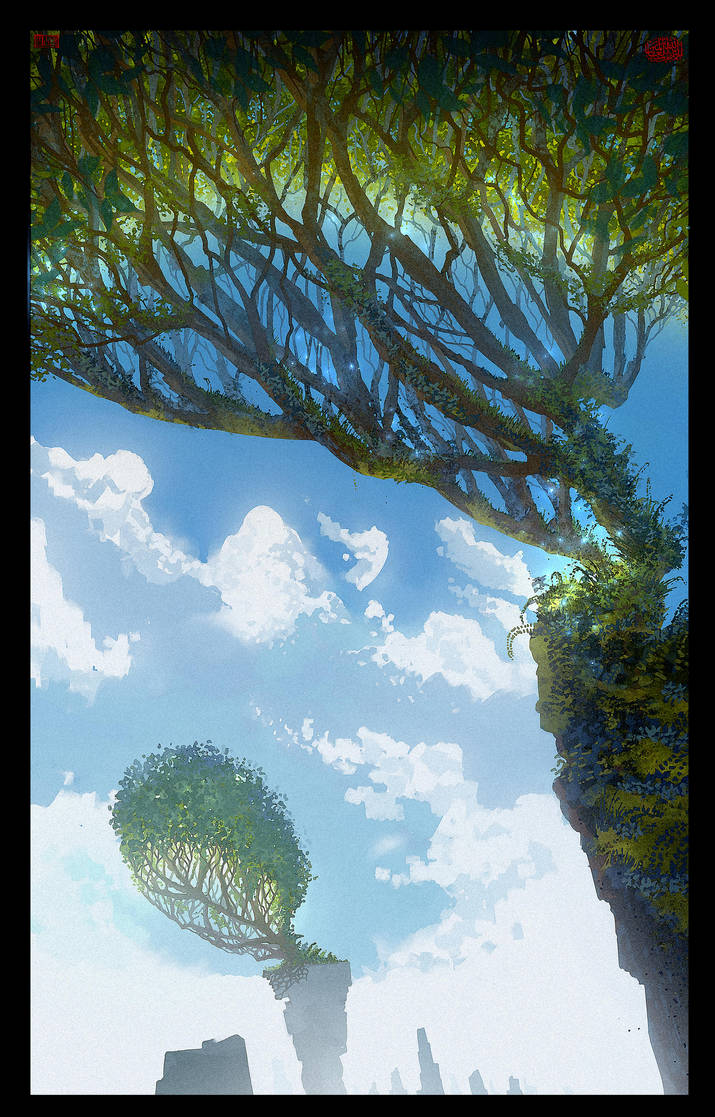 Trees up High by UsamahDraws