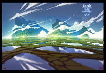 Planet Earth by UsamahDraws