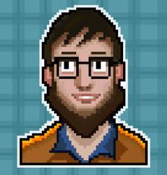 Pixel dude face by UsamahDraws