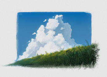Clouds and Grass by UsamahDraws