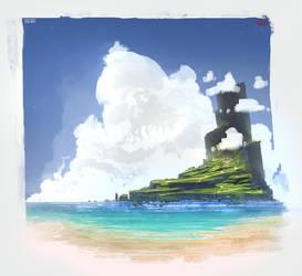 Island by UsamahDraws