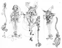 HalloWitch sketches 01 by DAgStar