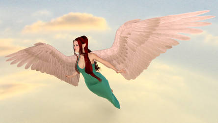Selena With Wings by minitiger