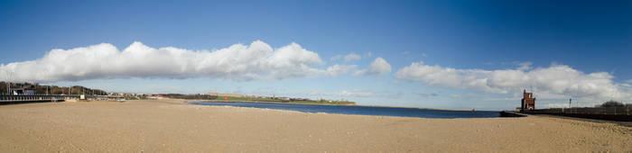 South Shields Beach Panorama by newcastlemhull