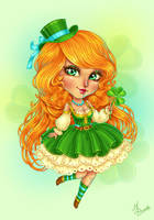 St.Patrick's Day Chibi by dimary