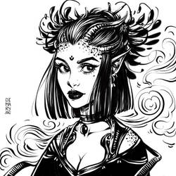 Witch Demoness by dimary
