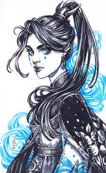 Inktober: Blue Witch by dimary