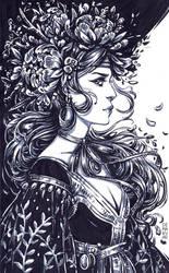 Inktober: Plant Witch by dimary
