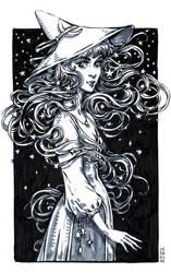 Inktober: Night Witch by dimary