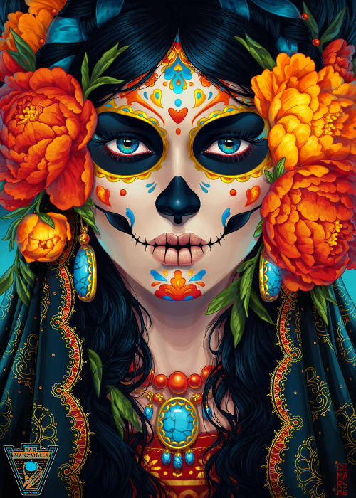 Commission: Day of the Dead by dimary