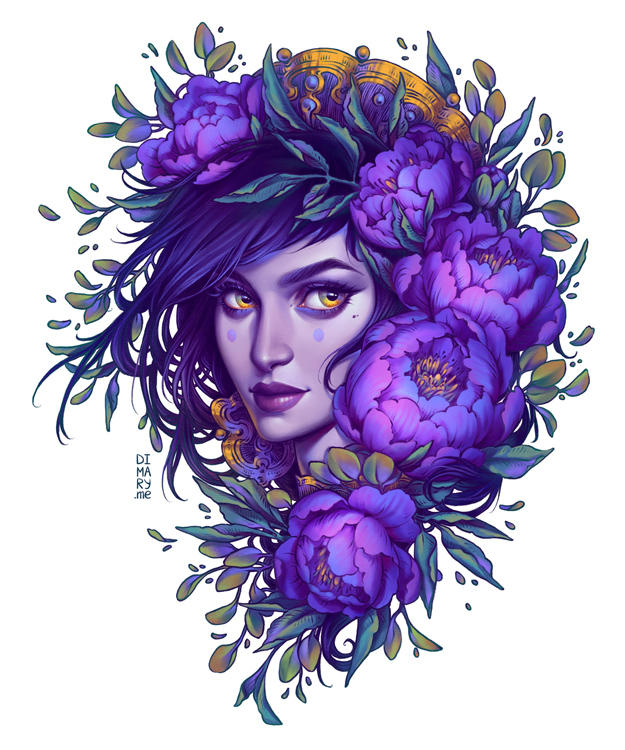 Purple Witch by dimary