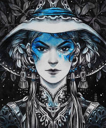 Inktober: Ebony Witch by dimary