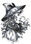 Inktober: Catnip Witch by dimary