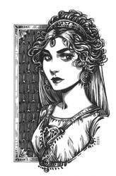 Inktober: Hera Goddess by dimary