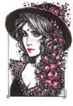 Inktober: Foxglove Witch by dimary