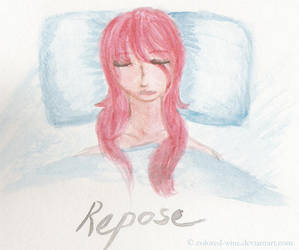 Watercolor: Repose by colored-wine