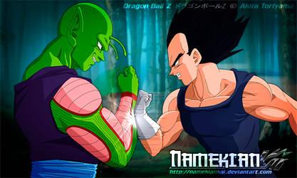 Piccolo and Vegeta - THE CLASH by NamekianKAI