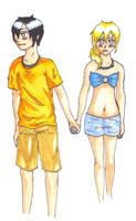 Percy and Annabeth (again) by Creepyfeet101