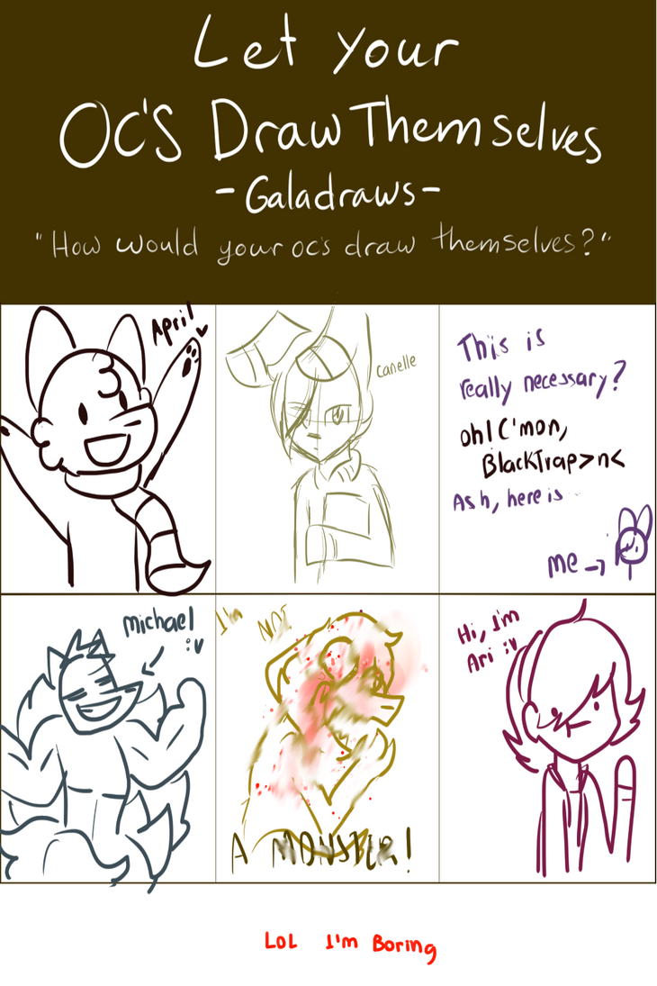 My OC's Draw Theemselves (MEME) by Applitol