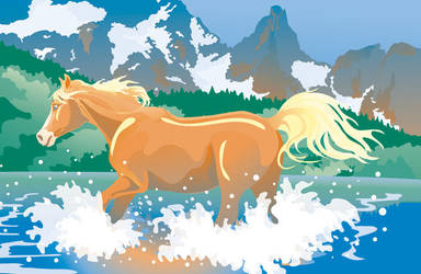 Horse hills by artjenesis