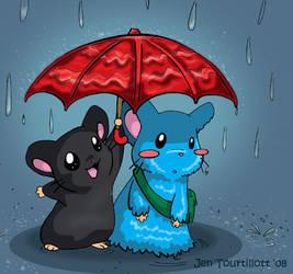 Red Umbrella by artjenesis