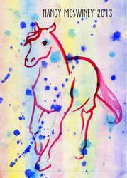 Horse Rainbow Watermark by BoomersRoundTheBend