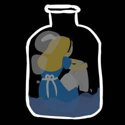 Inktober Day 18 - Bottle by Blaakat