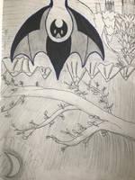 Bat symbol / doodle by BattyillustratioN