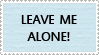 Leave Me Alone Stamp by kingjules71