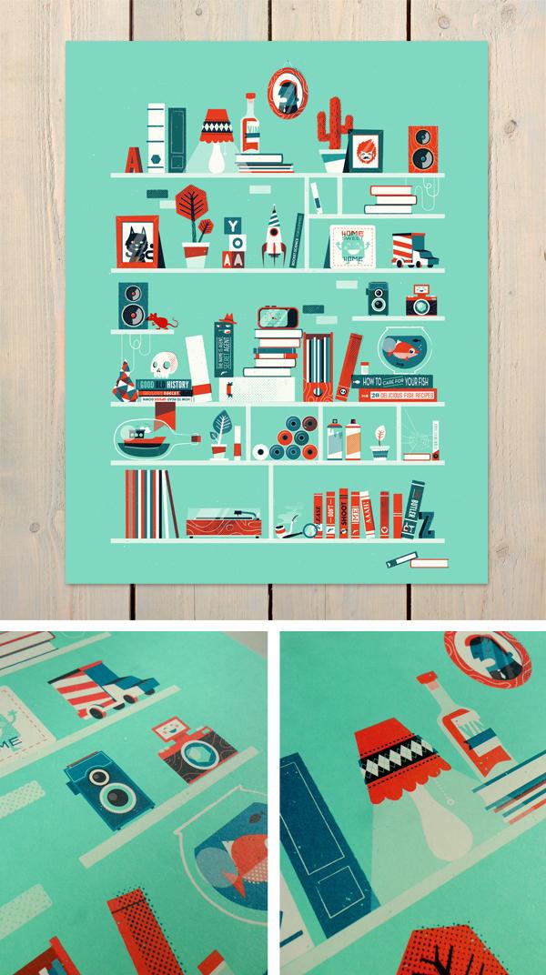 Shelf-portrait print by patswerk