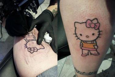 Hello Kiity Tattoo by SynestheticSoul
