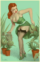 Poison Ivy Pin Up by SpicyDonut